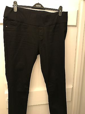 Black maternity jeans (jeggings) size 14 New Look
