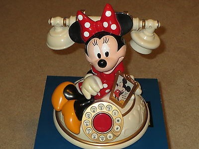 Vintage Disney Telemania Minnie Mouse Desk Phone Original box with Manual