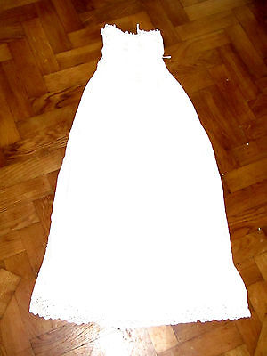 ANTIQUE Baby tiny VICTORIAN EMBROIDERED WHITEWORK CHRISTENING GOWN DRESS
