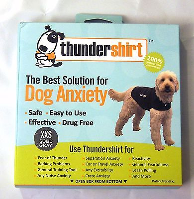 Thundershirt Dog XXS X Small   7 lbs Solid Gray Best Solution for Anxiety NEW