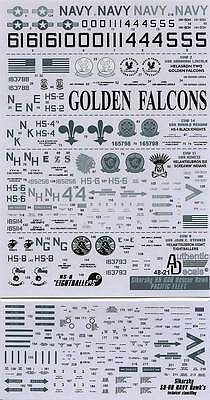 1:48 AuthenticDecals #4821 Sikorsky HH-60H Rescue Hawk, PACIFIC FLEET  NEU !!!