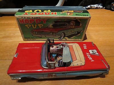 tin toy Friction FORD Happy pup car  (Alps,Japan)