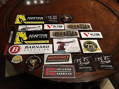 18 Gun Military Militia Hunting Weaponry Tactical Swat Ammo Arms Stickers/Decals