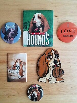 Assorted Basset Hound Dog Memorabilia