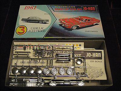 RARE 1st Issue 1961 Cadillac Fleetwood JO-HAN USA 3in1 Model/Kit 2861 PRISTINE!!