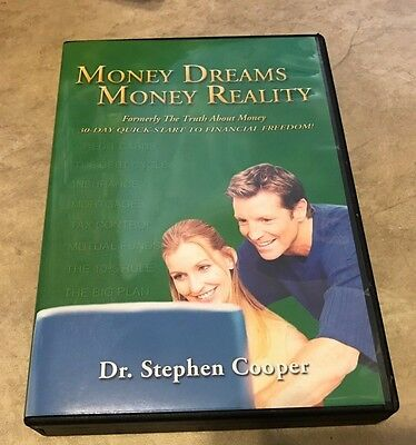Money Dreams Money Reality Truth About Money 4 CD set in case Stephen Cooper