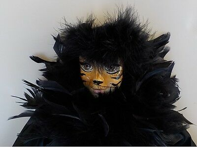 Musical Black Cat Clown Doll - Miss Kitty Doll - Crawford Collectables
