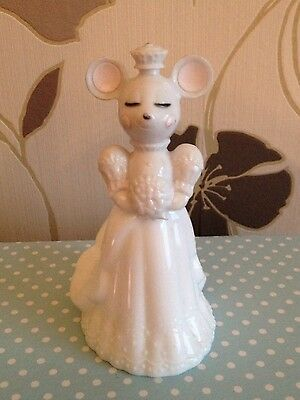 Avon Mouse Bride - First Flowers - empty perfume bottle, vintage