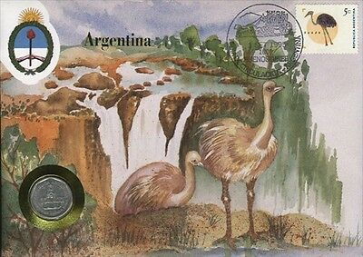 Argentina COVER with COIN in Pristine Condition