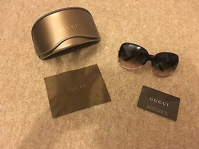 Genuine Gucci Sunglasses with original box, case and authentication card