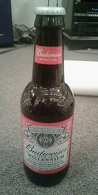 Oversized Budweiser Millennium Bottle With Plastic Cap Purchased In NYC 2000