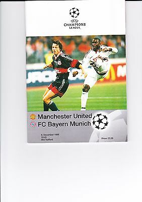 1998/99 Champions League 'treble' Man Utd V Fc Bayern Munich Official Programme