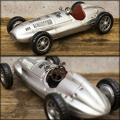 model vintage tin plate silver F1 racing car free shipping!Q7307-3