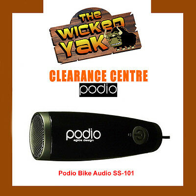 Podio Sports Outdoor Mini Speaker for iPhone/iPod/MP3 Black SS101-NEW!