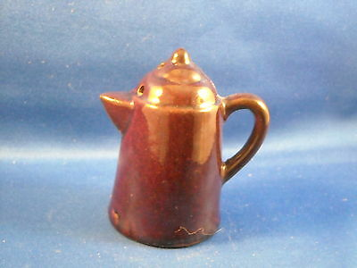 Old Vintage Redware Cowboy Coffee Pot Salt Or Pepper Shaker  Made In Japan
