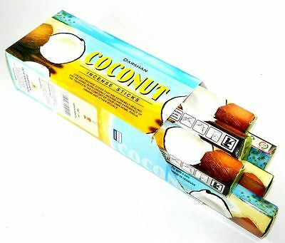 6 Box/Pack 120 Sticks total Darshan Coconut Quality Incense Fragrance from India