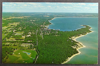 Harbor Springs Little Traverse Bay Michigan Aerial View Postcard b300