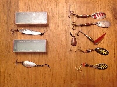 2 X Vintage Abu Lures -Boxed- And More Lures With Spinners - Fishing Tackle