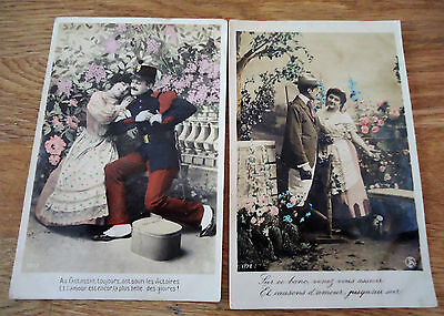 2 old French postcards