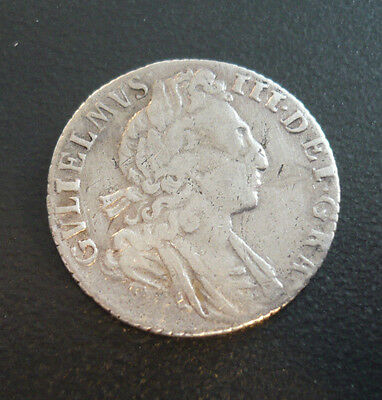 Great Britain 6 Pence 1697 William III 3rd bust Late harp, small crowns. S-3542