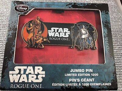 Disney Store Star Wars Rogue One Limited Edition Jumbo Pin LE 1200 New