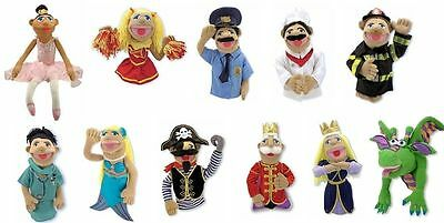 Melissa And Doug Hand Puppet Role Play Chef Princess Doctor Police Dragon Pirate