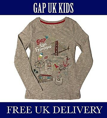 Bnwt Gap Kids Uk Girls San Francisco T-Shirt. Uk Seller. Free Delivery