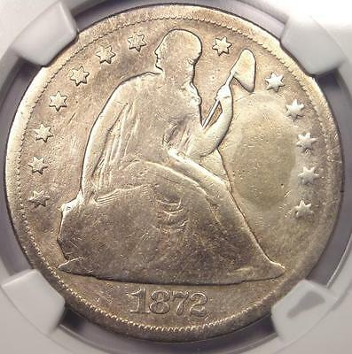 1872-CC Seated Liberty Dollar $1 - NGC VG Details - Rare Carson City Coin!