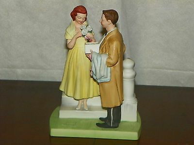 """Lovely Vintage Figurine by Norman Rockwell """"The First Prom"""" 1979"""