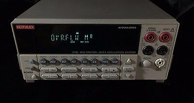 Keithley 2700 6.5 digits DMM System with 7710 20-ch multiplexer