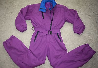 Vtg OBERMEYER womens purple 1-piece ski snow suit 12