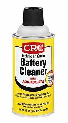 CRC 05023 Technician Grade Battery TERMINAL Cleaner with Indicator - 11 Wt Oz.