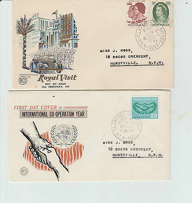 4 X Different Australia  Pre - Decimal  High Value Sets on First Day Covers