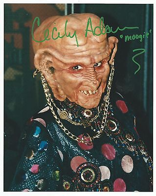 STAR TREK DS9 CECILY ADAMS as MOOGIE SIGNED IN PERSON 8X10 (PASSED AWAY 2004)