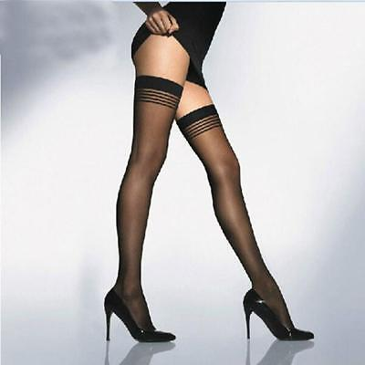Stay-Up Tights Fashion Stockings Pantyhose Stripes Thigh-highs
