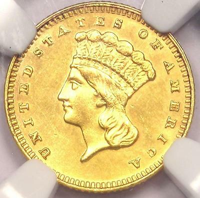 1886 Indian Gold Dollar Coin G$1 - Certified NGC Uncirculated Details (UNC MS)!