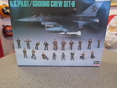 Hasegawa Us Piolet Ground Crew Set B 1/48 Scale #x48 Model Kit