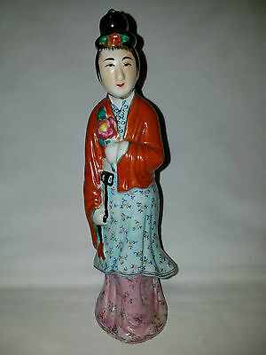 Chinese Porcelain Woman Figurine