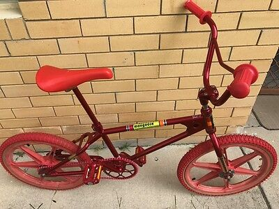 1982 Old School Mongoose Copy BMX Candy Apple Red