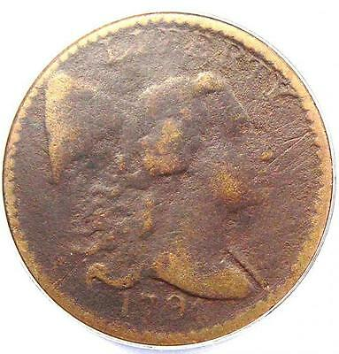 1794 Liberty Cap Large Cent 1C S-63 - ANACS VF20 Detail - Rare Certified Penny