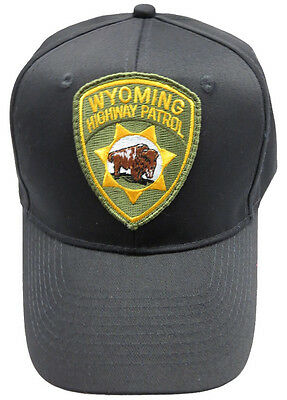 Wyoming Highway Patrol Patch Snap Back Ball Cap / Hat - BLACK - OSFA - New