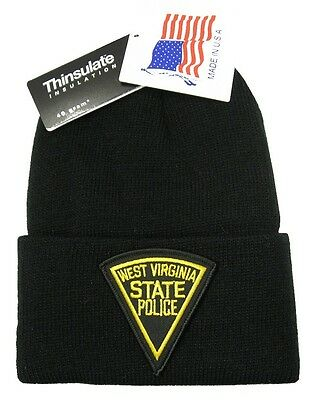 West Virginia State Police Patch Knit Cap - 40g Thinsulate Insulation - Black