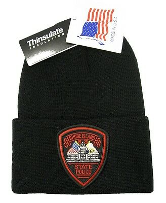 Rhode Island State Police Patch Knit Cap - 40g Thinsulate Insulation - Black