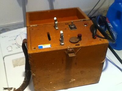 Vintage vibrator in wooden box