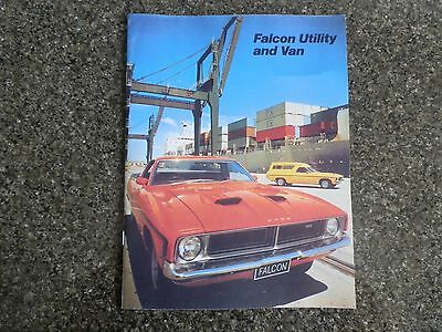 1974 Ford Xb Falcon Ute And Van Sales Brochure  100% Guarantee