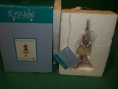 Department 56 Krinkles Mini Birthday Ornament (Witch) 2004 NEW