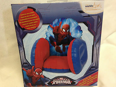 Brand New Spiderman Inflatable Chair Seat Child Boy Kids Red Blue Play Chair