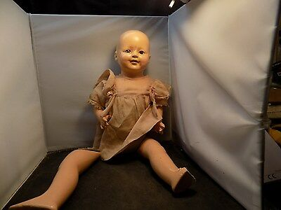 K and K Toy Co inc. Vintage Doll with Beautiful Eyes Face and tiny Teeth