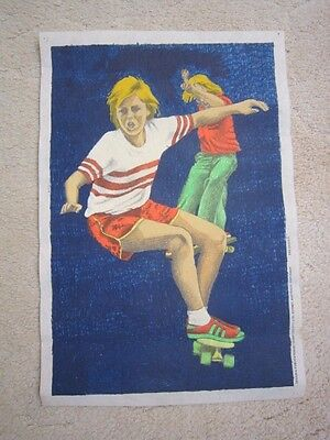 Hobbytex Complete Print Of 2 Skateboarders Painted Area Is  46 X 30.5 Cms