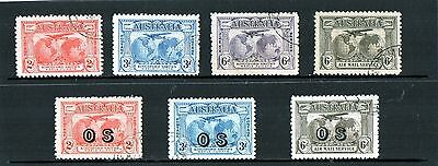 Australia 1931 Kingsford Smith Commemoration Set Of 7 Inc 3 OS Stamps CTO Used